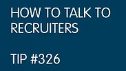 How to Talk to Recruiters