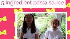 5 ingredients pasta sauce