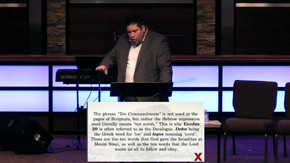 Ten Commandments-God's Divine Demands: Etched in Stone, Inscribed on Hearts   Exodus 20:1-2   Pastor Aaron Matthews   05-23-21