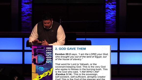 The Ten Commandments: Obedience (Exodus 20:1-2) Pastor Aaron Matthews