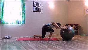 Stability Ball Yoga 041920