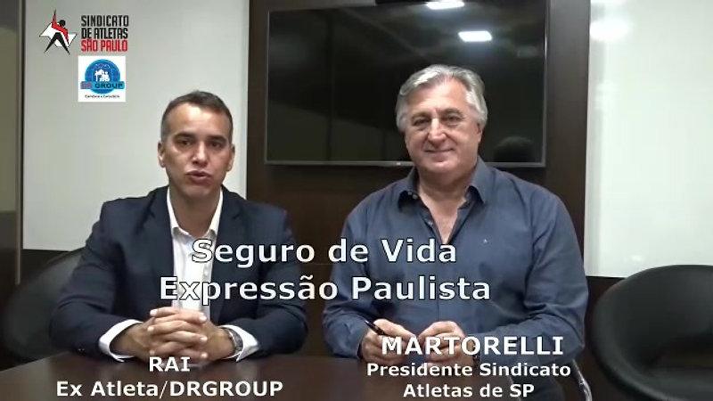 VIDEO MARTORELLI E RAI SAPESP PARCERIA SEGURO DE VIDA