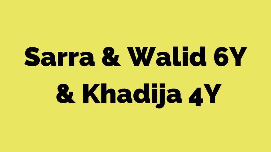 Sarra & Walid 6Y & Khadija 4Y