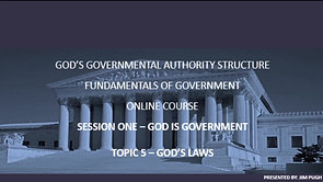 Session One Topic Five - God's Laws