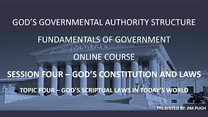 Session Four Topic Four - God's Spiritual Laws in Today's World