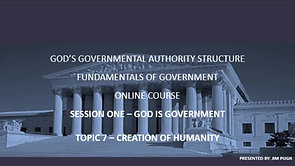 Session One Topic Seven - Creation of Humanity