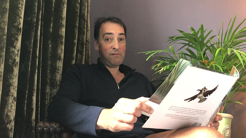 "Alistair McGowan reading ""Kevin.."""
