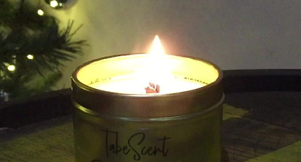 Enjoy the soothing crackle of our wood wick candles