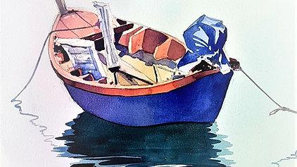 Fishing Boat in watercolour