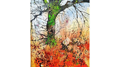 Blown Tree watercolour