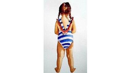 Freya in the Stripey Costume