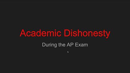 Academic Dishonesty on AP exams