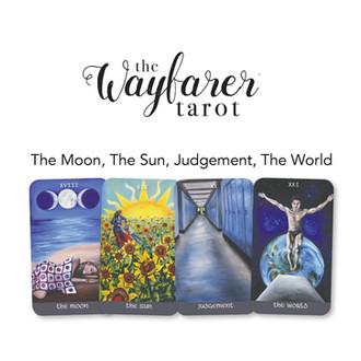 Wayfarer Introduction Class - Moon, Sun, Judgement, World