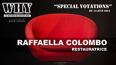"""WHY ?"" SPECIAL VOTATIONS - Raffaella Colombo, restauratrice"