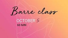 OCTOBER 5 - 60 min