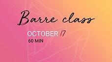 OCTOBER 17 - 60 min - 2
