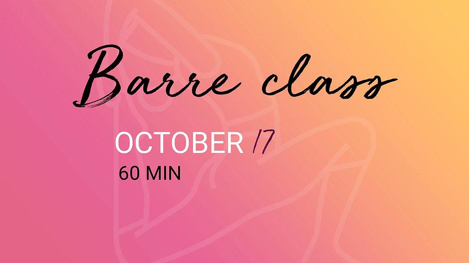 BARRE CLASS