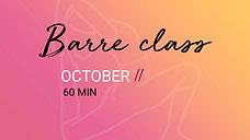 11 OCTOBER - 60 min