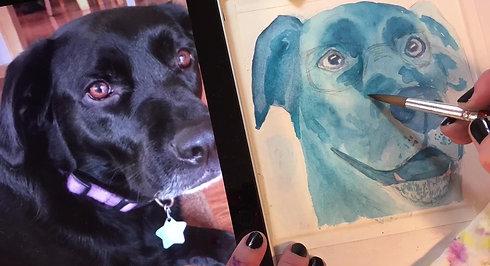 Ingerlene Frick Painting Blue