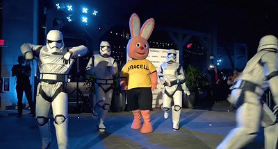 Stormtrooper and Duracell Bunny
