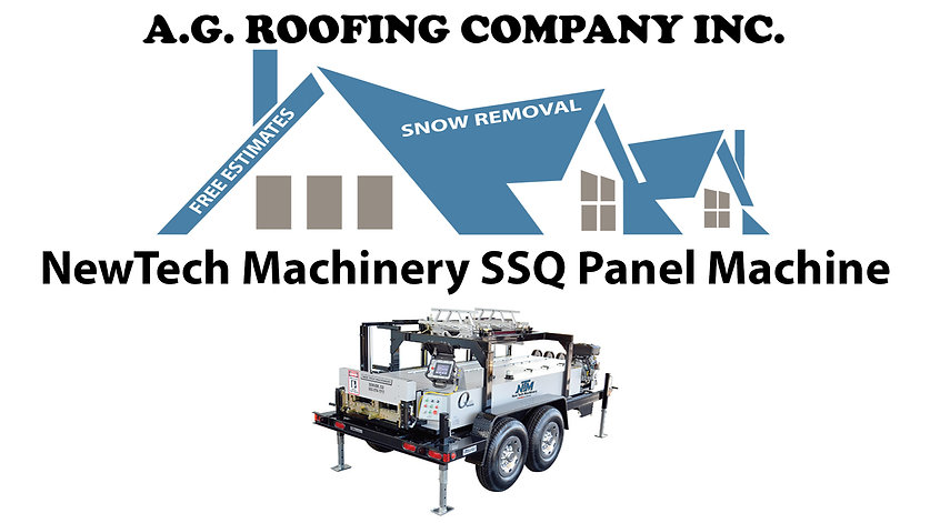 A.G. Roofing SSQ Panel Machine
