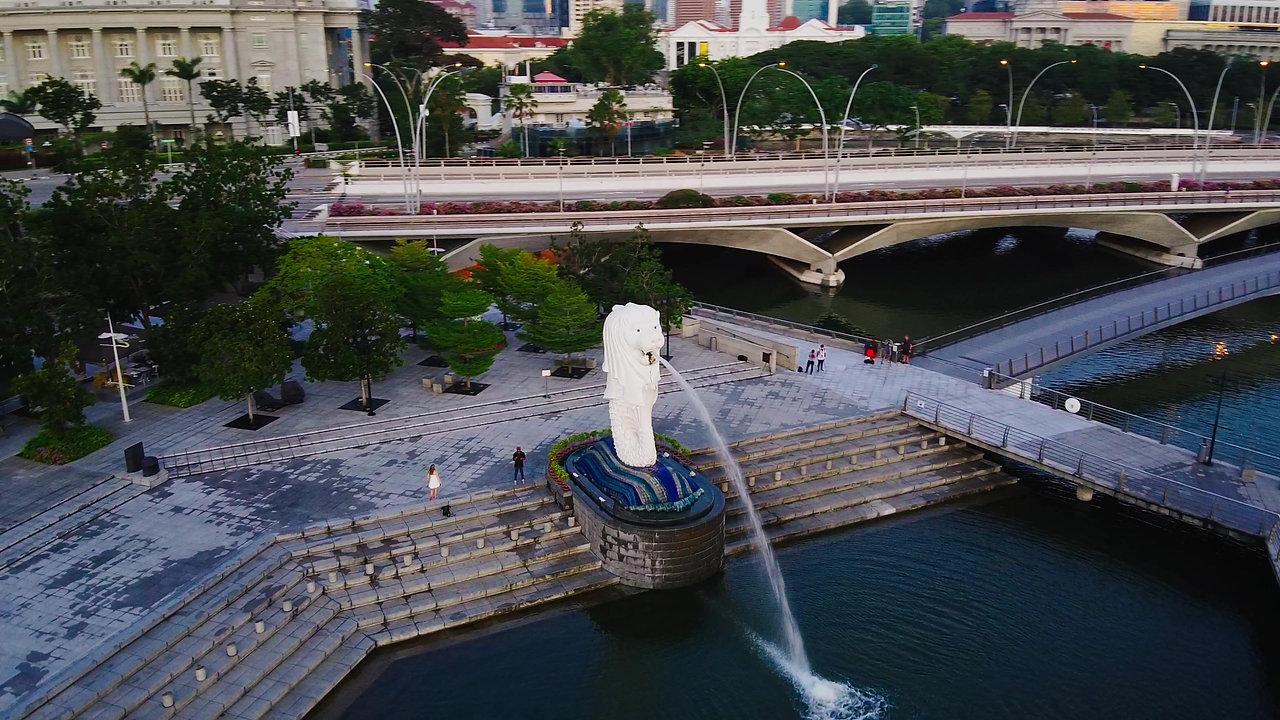 Merlion Park singapore with dji Mavic mini