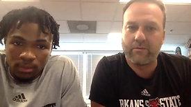 WATCH: AStateMB Head Coach Mike Balado & Desi Sills