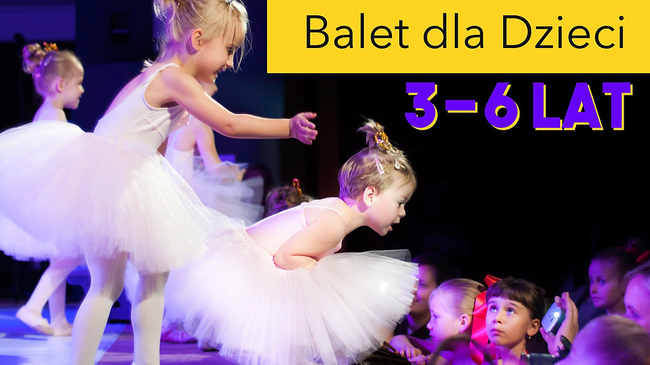 Zajęcia baletowe z Panem Grzesiem! Grupa 3-6 lat!