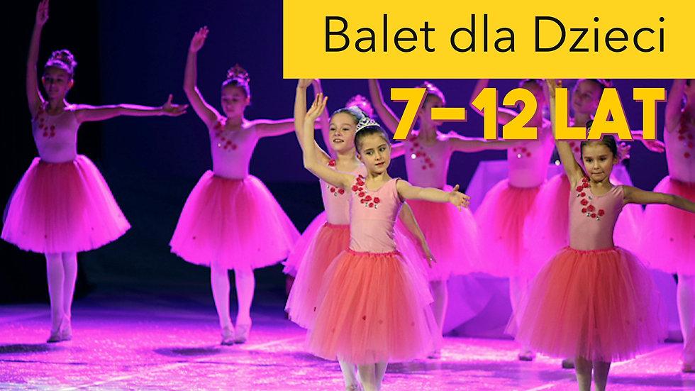 Zajęcia baletowe z Panem Grzesiem! Grupa 7-12 lat!