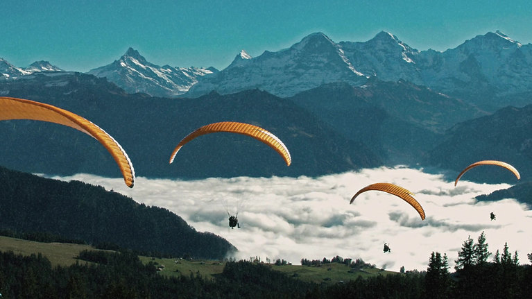 fly-twin.com Interlaken Paragliding Passagierflug in der Schweiz