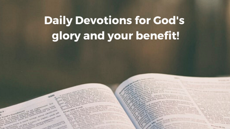 Pastor John Blevins III's Daily Devotions for 2020