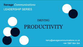 Driving productivity
