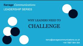 Why leaders need to challenge