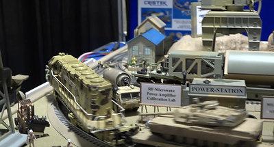 Lighthouse Model Train-Military Base Trade Show Display, EDI-CON Boston 2017
