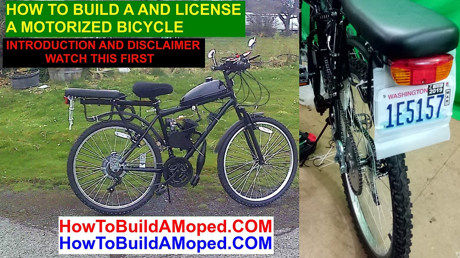 How to Build a Motorized Bicycle 2 Cycle How To Build a Motorized Bike Moped DIY Tutorial Instructions
