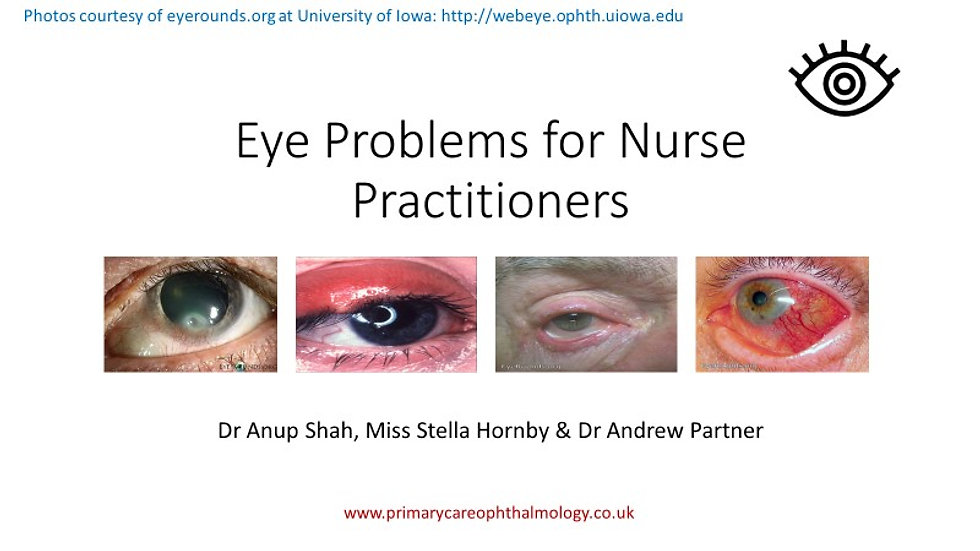 Eye Problems for Nurse Practitioners
