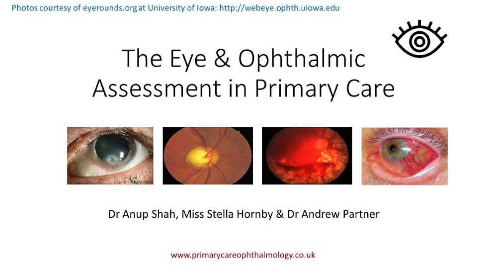 The Eye & Ophthalmic Assessment in Primary Care