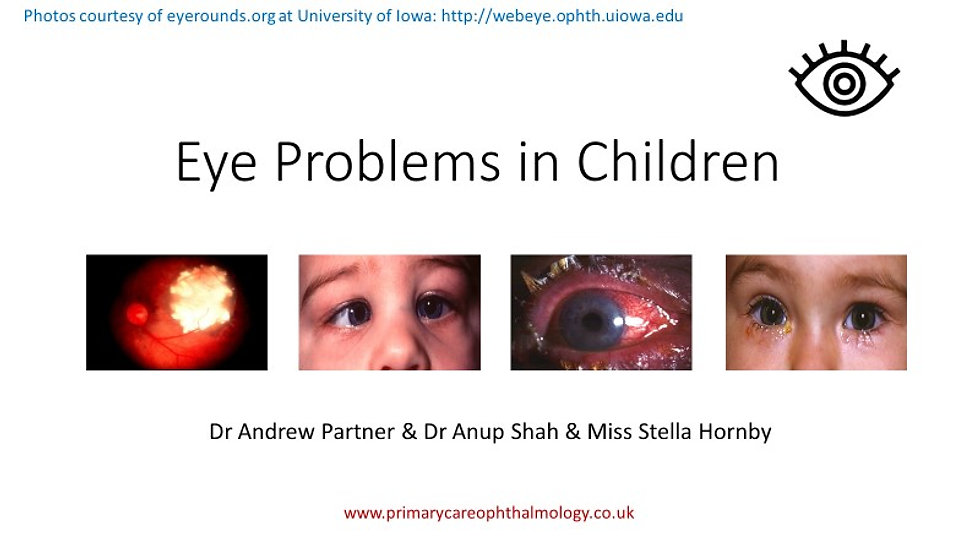 Eye Problems in Children