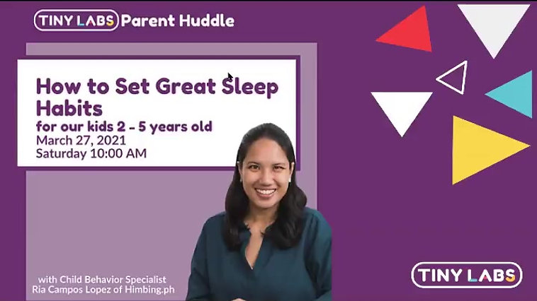 Parent Huddle: How to Set Great Sleep Habits