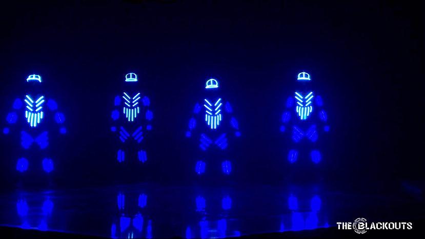 The Blackouts zeigen LED-Performance - Halbfinale DGST