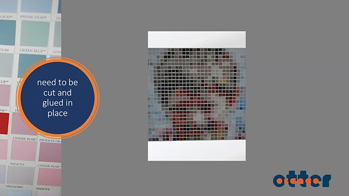 Creating an Orange Otter colour chart pixel artwork