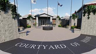 Courtyard of Honor Virtual Rendering