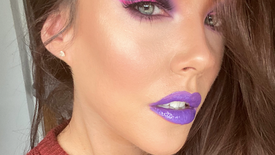 Purple Glam with Pink Liner using PLouise Paints and MMMMitchell Palette