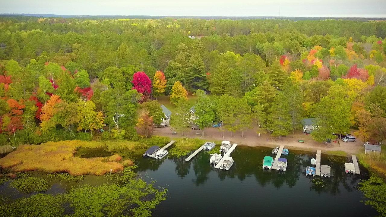 Webb Lake Cabins / Campground Flyover