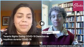 Derechos de Inquilinos/Tenants' Rights during COVID-19