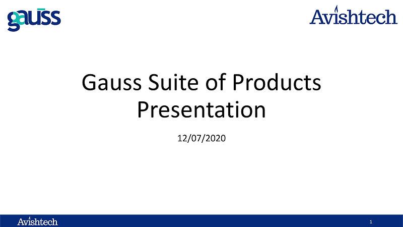 Gauss Introduction