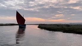 Crab boat under sail