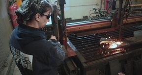 Mélanie Plourde, 35 ans, soudeuse chez Atelier de soudure Gilles Roy