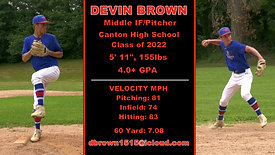 DEVIN BROWN Hitting, Pitching & Middle Infield
