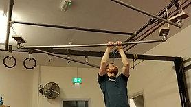 Hanging straight bar